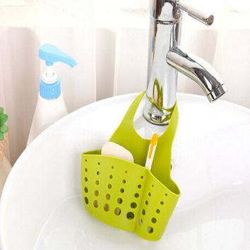 1PC Candy Colors Plastic Drain Baskets Garbage Bags Hanging box Kitchen Eco-friendly Storage Sink Kitchen Tool