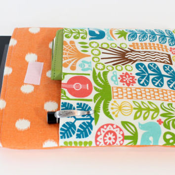 Tablet cover Ipad Case i pad Sleeve with Jungle fabric pocket