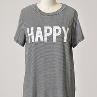 Be Happy Striped Shirt