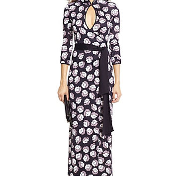 DVF China Wrap Gown