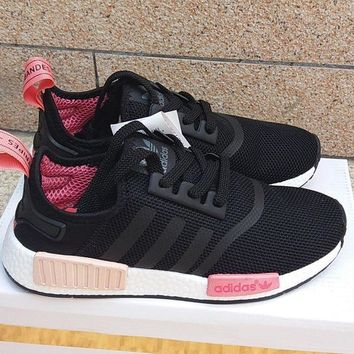 DCCKIJG ADIDAS' Women Running Sport Casual NMD Shoes Sneakers Black G-MDTY-SHINING