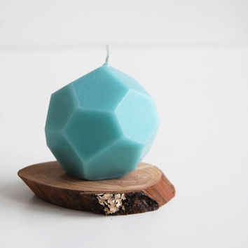 Faceted Handmade Candle, Geometric Candle, Modern Home Decor, Geometric Home Decor, Modern Candles, Modern Wedding Favor