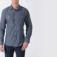 [True Story] Two Pocket, Heavy Weight Chambray in Antique Indigo