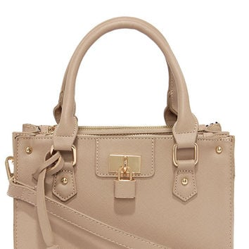 Love Lock Taupe Handbag