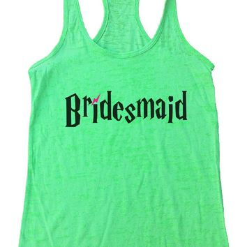 Bridesmaid Burnout Tank Top By Funny Threadz