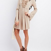 LACE-UP BABYDOLL DRESS