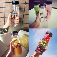 500ML Drinks Fruit Juice Water Cup Today Special My Bottle Sport Bottle Tumbler