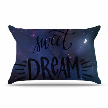 "Robin Dickinson ""Sweet Dream"" Black Purple Galaxy Pillow Sham"