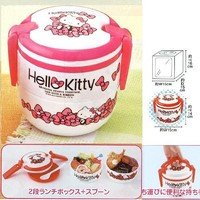 Bento: Sanrio Hello Kitty Design Japanese Style 2-layer Bendo Lunch Box