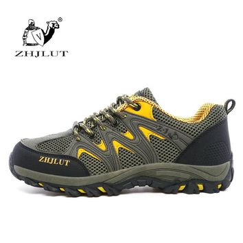 ZHJLUT 2018 New Breathable Hiking Men Shoes Outdoor Anti-skid Wear Resistant High Quality Men Climbing Shoes Fishing Shoes