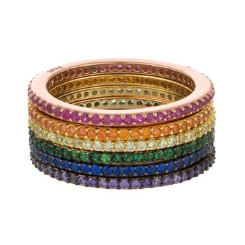 Colorful Eternity Bands