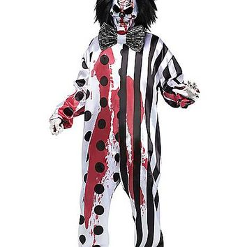 Adult Bleeding Killer Clown Costume - Spirithalloween.com