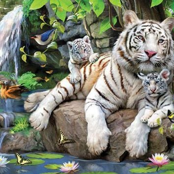 White Tigers 15pc Jigsaw Puzzle