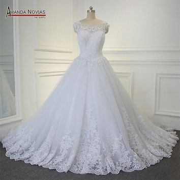 New Long Train Wedding Dress