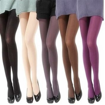 2018 Spring 80D Velvet Women Tights Solid Color Women Stockings Pantyhose Casual Collant Silk Stockings Autumn Female Hosiery
