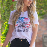 God Bless America Graphic Top