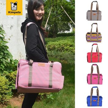 Canvas Casual Dog Travel Carrier Bags 6 Colors Portable Tote Shoulder  Bags