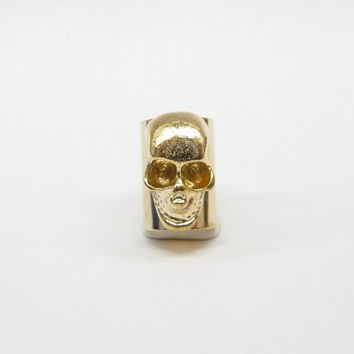 A gold plated skull Ear Cuff ,gold Cartilage Earring