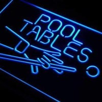 Pool Tables Bar Neon Sign (LED)
