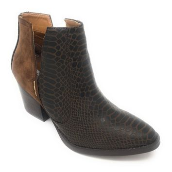 Not Rated Tarim Tan Heeled Ankle Booties