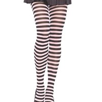 Leg Avenue Female Nylon Stripe Tights E 7100