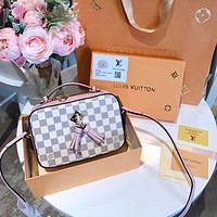 LV Women Shopping Bag Leather Tote Handbag Shoulder Bag
