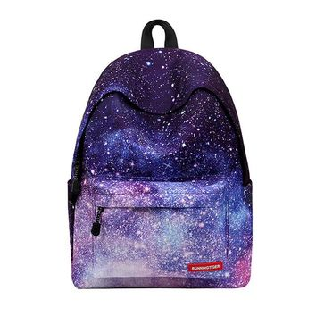 Student Backpack Children Women Printing Backpack For Teenage Girls Casual School Book Bags Galaxy Stars Universe Space Campus Student Backpack Colors Bag AT_49_3