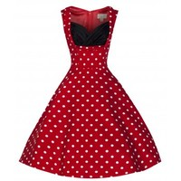 Ophelia' Vintage 1950's Red Polka Dot Party Picnic Dres
