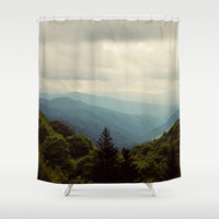 THE LIGHT THROUGH THE CLOUDS Shower Curtain by Erin Johnson