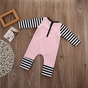 Romper Spring Autumn Fashion Newborn Baby Clothes Infant Boys Girls Rompers Long Sleeve Coveralls  Unisex