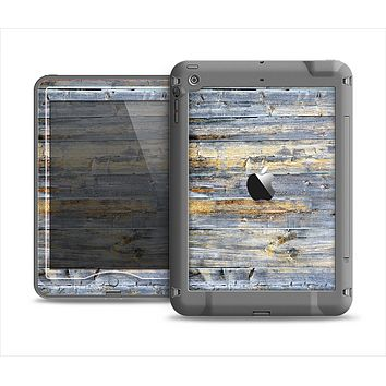 The Vintage Wooden Planks with Yellow Paint Apple iPad Air LifeProof Nuud Case Skin Set