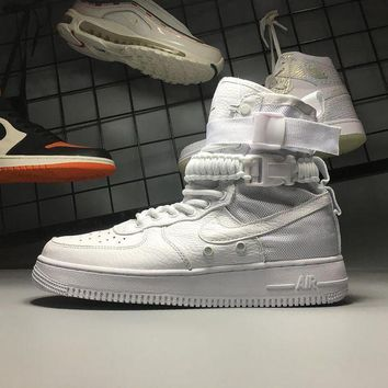 DCCKU62 Nike Air Force 1 Special Field Triple White SF AF1 High 903270-100 Sport Shoes