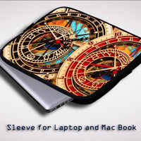 Astronomical Clock Vintage Classic iPad 2 3 4 Sleeve for Laptop, Macbook Pro, Macbook Air (Twin Sides)