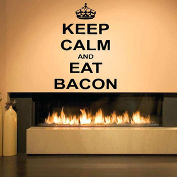 Wall Decor Vinyl Sticker Room Decal Decor Keep Calm And Do Your Job, Eat Bacon, Get Out Of My Room, Just Graduate Signs Inspirational Quotes
