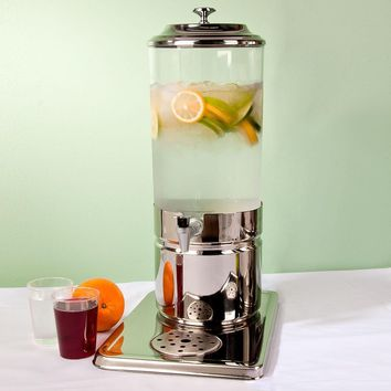Beverage Dispenser Single Choice 1.8 Gallon Stainless Steel and Polycarbonate