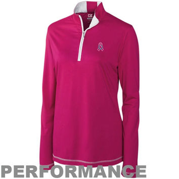 Indianapolis Colts Ladies Breast Cancer Awareness Choice Performance Half Zip Long Jacket - Pink