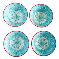 Floral Turquoise/Red Bowl