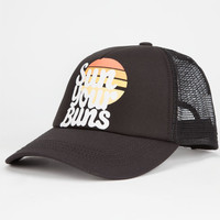 Billabong Sun Ur Buns Womens Trucker Hat Black One Size For Women 26037610001