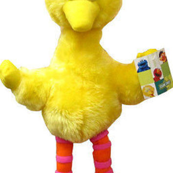 "Sesame Street Yellow Big Bird 10"" Plush Doll Soft Stuffed Toy Figure-New!!!"