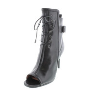 Rachel Zoe Womens Maggie Leather Heels Ankle Boots