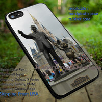 Walt Disney and Mickey Mouse Statue in Front of Castle iPhone 6s 6 6s+ 5c 5s Cases Samsung Galaxy s5 s6 Edge+ NOTE 5 4 3 #cartoon #animated #disney #MickeyMouse dt