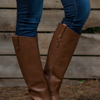 The Carolina Riding Boot - Tan