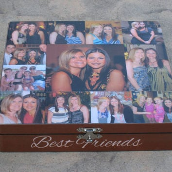 Unique Maid Of Honor Gift Sister Personalized Keepsake Box Custom Photo Collage
