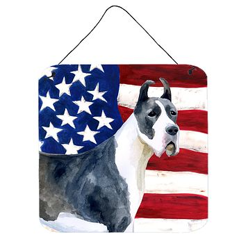 Harlequin Great Dane Patriotic Wall or Door Hanging Prints BB9643DS66