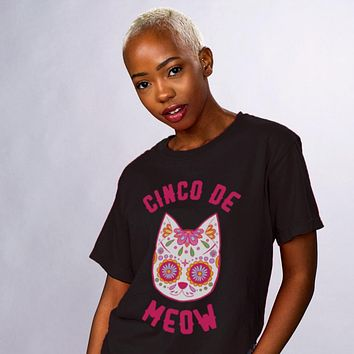 Cinco De Meow Sugar Skull Shirt