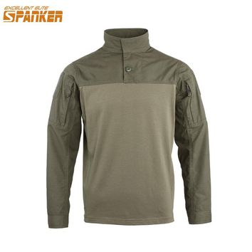 EXCELLENT ELITE SPANKER Tactical Men Long sleeve T-shirt Military Camouflage Army T-shirt Jungle Hunting Assault Cotton T Shirts
