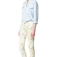 FLORAL PRINT TROUSERS - Trousers - Woman | ZARA United States