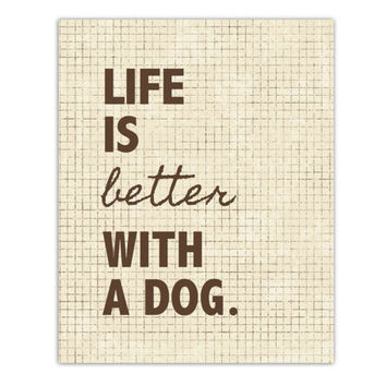 Dog Quote Print // 40% OFF // Word Art, 8x10, typography, love