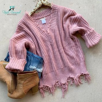Pre-Order: Carly Distressed Sweater