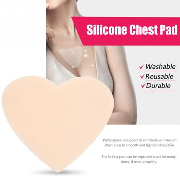 Medical Grade Silicone Anti Wrinkle Chest Pad Bust Enhancer Pad Reusable Anti-aging Breast Lifting Chest Firming Invisible Patch